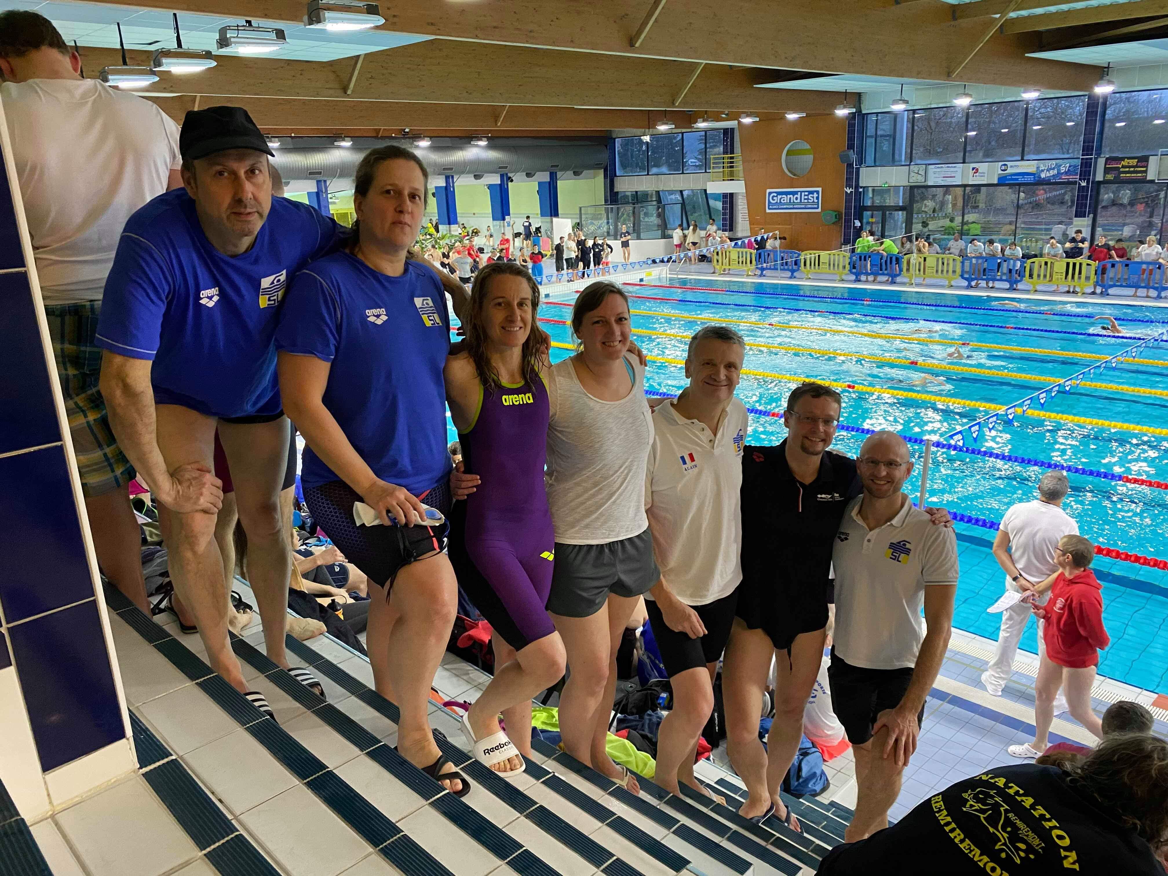 1ère place pour le Swimming Luxembourg aux Interclubs Masters Grand Est (France) / 6 records nationaux !