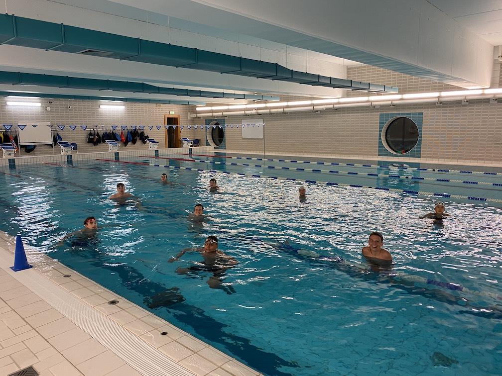 Les nageurs du Swimming Luxembourg à l'eau !